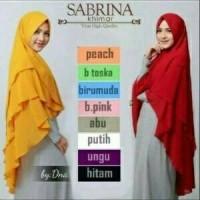 Jual khimar sabrina shifon ceruty 3 layer/ hijab syar'i model pinguin Murah