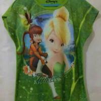Grosir Kaos Anak Karakter Printing Motif Tinkerbell 4-14