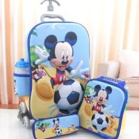 KIDS TROLLEY BAG TAS SEKOLAH ANAK IMPORT 3 RODA 3D 4IN1 MICKEY MOUSE