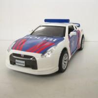 Mitsubishi Nissan GTR Diecast Miniatur Mobil Polisi Indonesia