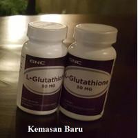 GNC USA - L-GLUTATHIONE 50 mg - Berani diadu dengan GLUTERA, THATION, LUXURY, EMILAY , GLUTA