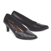 sepatu wanita formal kulit kantor kerja pantofel high heels 7 cm
