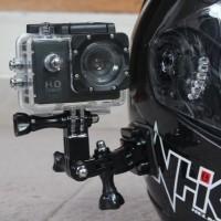 Side Helm Mount Motovlog / Mounting Pinggir Samping Helm Gopro Xiaomi