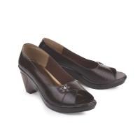 sepatu wanita formal pantofel kulit kerja kantor bcly heels 7 cm