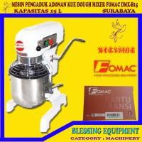 Mesin Mixer Roti & kue Fomac Dough Mixer DMX-B15, pengaduk adonan
