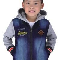 Jual 004CRC-CJ, jaket denim anak laki-laki, hoodie blue jeans anak cowok Murah