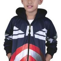 Jual 161CYI,jaket training hodie anak laki-laki/cowok model Captain America Murah