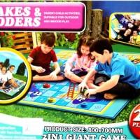 Mainan Edukatif Anak Ular Tangga / Playmat Snake and Ladder Game