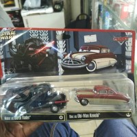 CARS STAR WARS Mater dan Doc Hudson (Darth Vader & Obi)