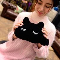 Jual Tempat Tas Make Up Genggam Dompet Clutches Wanita Cute Cat Kucing Lucu Murah