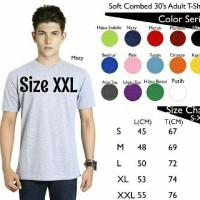 Jual Kaos Polos Size XXL Oblong Pendek Soft Combed 30s Murah