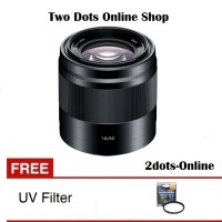 Sony Lensa SEL 50mm f1.8 E-Mount / SEL 50 mm f1.8 OSS + Free UV Filter