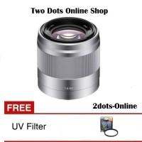Sony Lensa SEL 50mm f1.8 E-Mount / SEL 50 mm f1.8 OSS + Free UV Filter