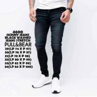 pull&bear skinny jeans black washed/celana jeans