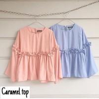Caramel Top / Atasan Wanita / Blouse / Blus / Dress / Baju Wanita