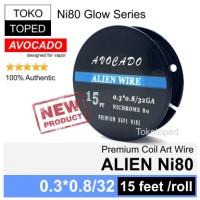 Harga authentic avocado alien ni80 wire mod rda rta rdta vapor nichrome | Hargalu.com