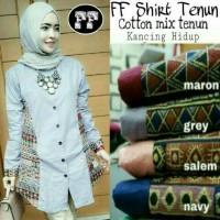 busana muslim/baju wanita/gamis muslimah/tunik blouse/atasan/ff tenun