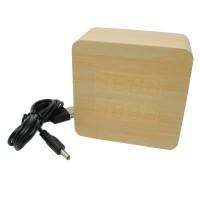 Jam Weker LED Digital Wood Clock Alarm Alaram