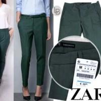 harga B041 Zara basic Green pants celana origina branded Tokopedia.com