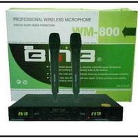 Murah !!! Mic Microphone Bmb WM 800 Wireless Professinal Vokal