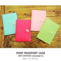 Korean Pony Passport Cover (Sampul passport dari kulit taiga halus, ad