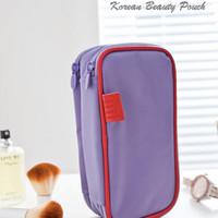 Dual Side Korean Beauty Pouch LIGHT PURPLE (Tas kosmetik & aksesoris)