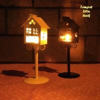 Tempat Lilin Unik Model RUMAH (aman dari bahaya kebakaran & anak2)