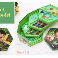 4 in 1 Crayon Set BEN 1O (4 tingkat isi 46 pcs crayon)