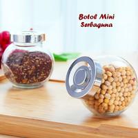 Botol Mini Serbaguna (Bahan kaca,bisa ditempatkan dalam posisi miring)
