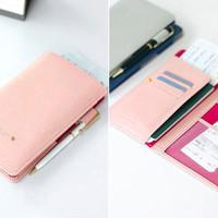 Anti Skimming Passport Wallet BLUE (Dompet banyak sekat untuk tempat u