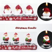 Christmas Candle ( Lilin edisi natal, 1 kotak isi 3 pcs lilin )