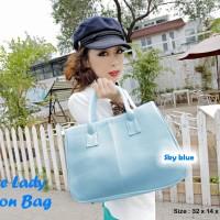 Office Lady Fashion Bag SKY BLUE (Tas fashion yg paling diminati bagi