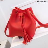 Tas Kulit Fashion Import Wanita MD 892 Merah