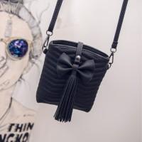 Tas Kulit Fashion Import Wanita MD 623 Hitam