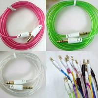"""Kabel Aux 3.5"""" Audio Transparan 1 Meter"""