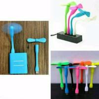 Kipas Angin Usb Flexible / Mini Fan Bamboo / Baling Baling