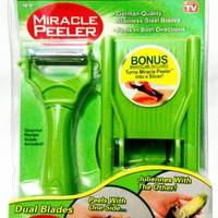 Jual MIRACLE PEELER 2 IN 1 Pengupas Kulit Buah dan Sayuran + Parutan Murah