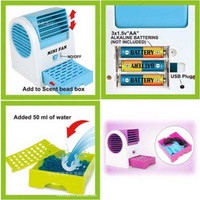 AC MINI PORTABLE DUDUK / KIPAS ANGIN ..