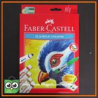 Acrylic Color Faber Castell 12 Warna + Kuas