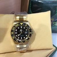 Jam Tangan Rolex GMT-Master ll All Gold Steel Black Swiss ETA 1:1