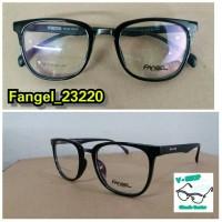 Bingkai kacamata frame fangel untuk pria dan wanita free lensa