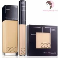 Jual Paket Maybelline Fit Me (Foundation + Concealer + Bedak) Murah