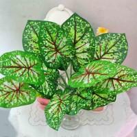 daun artificial talas sri gading srigading sirih anthurium leaf A3