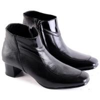harga Sepatu Formal Boot Kulit Asli Wanita Cewek Kantor Kerja Fkh347 Tokopedia.com
