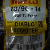 ban luar pirelli tubeless 80/90-14 FRONT REAR DIABLO SCOOTER