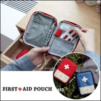 Dompet Tas Obat Pil Salep Travel Mini Kit FIRTS AID PUNCH (GN211)