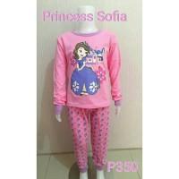 Setelan baju tidur anak perempuan Princess Sofia (P350)