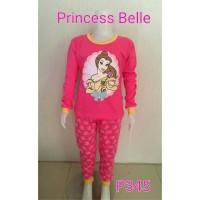 Setelan baju tidur anak perempuan Princess Belle (P345)