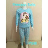 Setelan baju tidur anak perempuan Princess Belle (P348)