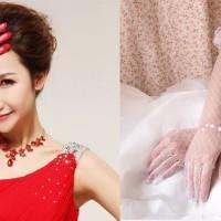 Jual Sarung Tangan gloves brokat aksesoris Wedding Dress Gaun Pengantin Murah